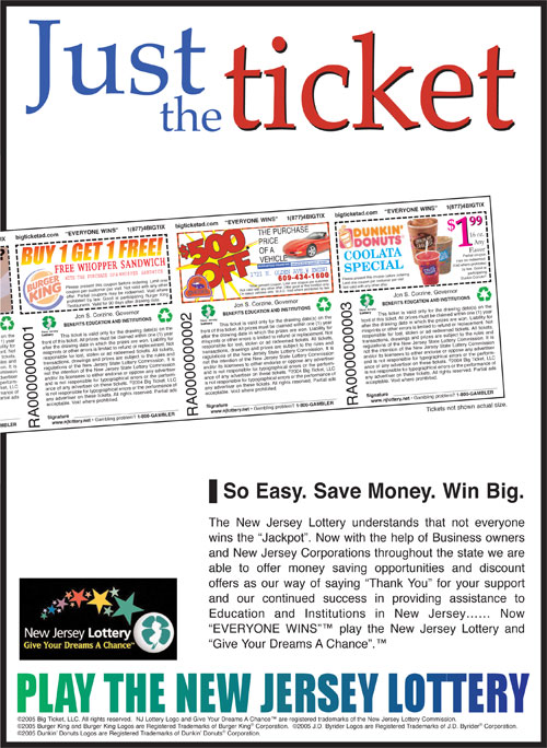 Just the ticket promotional ad